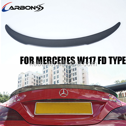 trunk spoiler wing auto rear spoiler carbon fiber for Mercedes Benz CLA class <strong>W117</strong> 2013+