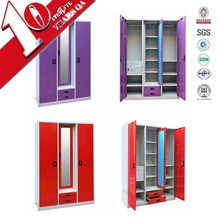Hot sale bedroom godrej steel iron almirah cupboard designs with price in india accept size customed