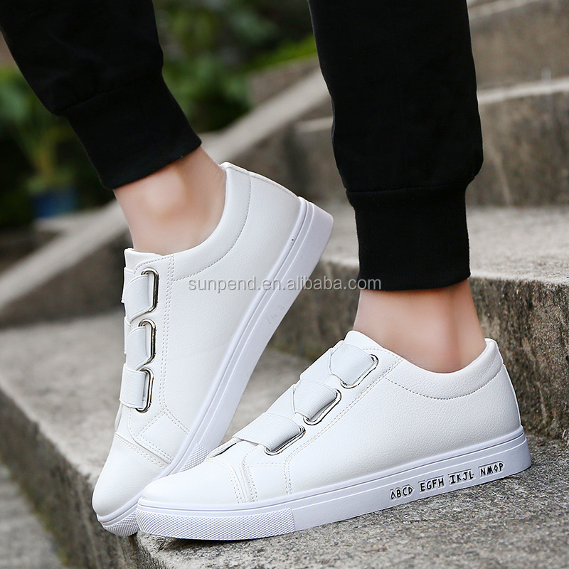 Yiwu Latest Design Autumn Summer Fashion White PU Breathable Mens Casual Shoes