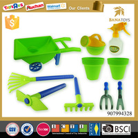 Educational toy plastic kids garden hand tool set