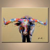Original abstract bull painting