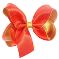 Supply high quality ribbon hair cheer bows for girl