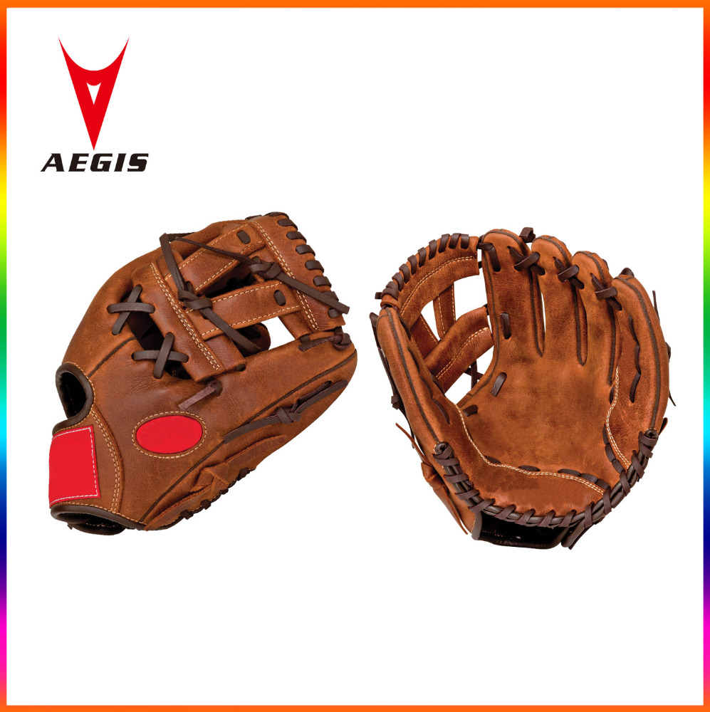 custom High quality professional cowhide leather baseball gloves , custom logo embroidery / stamp baseball gloves