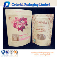 High grade Window kraft stand up zippper pouch/Brown kraft paper bags/Dried food packaging bag