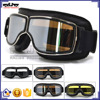 BJ-GT-011 High Quality Black Leather Motorcycle Helmet Steampunk Aviator Goggles