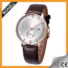 OEM custom brand logo leather personalized brand watches style watch