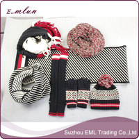Ladies designer hat and scarf sets winter accessaries