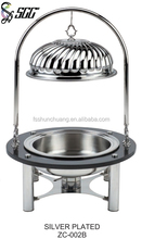 Marble Oval Chafing Dish With Hanger / Silver Chafing Dish For Banquet