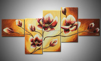 2015 newest Morden yellow Flowers Oil Painting on Canvas for sale