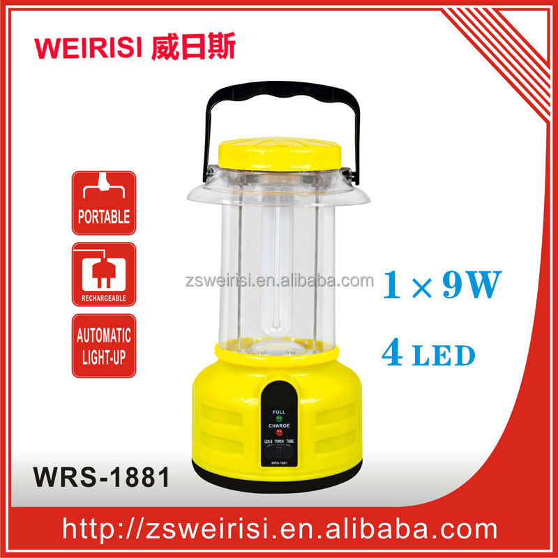 Rechargeable Portable Emergency Fluorescent Lantern/Camping Light (WRS-1881)