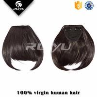 Dark color clip in bangs unprocessed virgin hair wholesale