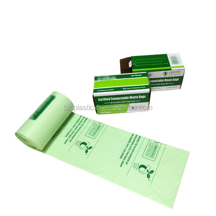 eco friendly biodegradable plastic trash compactor bags