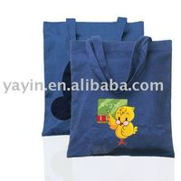 Blue colour standard size cotton/canvas tote bag