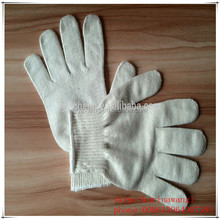 7/10 gauge white knitted cotton gloves manufacturer in china/bath towel 20x40 100% cotton