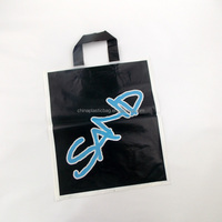black color foldable fashion polyester shopping sling bag