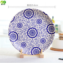 Whole sale bamboo fibre material round flat plate