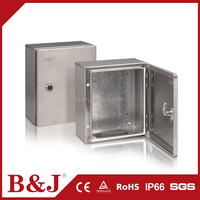 B&J Small Size Stainless Steel Enclosures Weatherproof Electrical Terminal Box