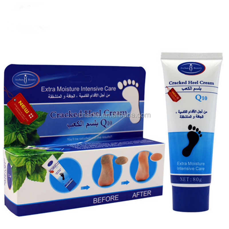 <strong>Q10</strong> cracked heel cream foot cream extra moisture intensive care remove dead skin and lines