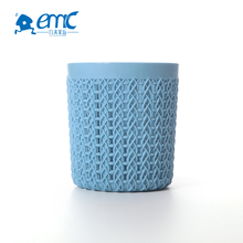Cylindrical round rattan plastic pen container box
