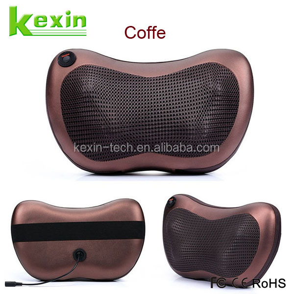 Portable Kneading Massage 8 Heating Heads Shiatsu Electric Massager Cushion for Car and Home Seat