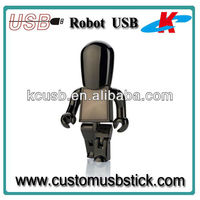 Good Quality Silver Gold Gun color usb Robot 4gb 8gb 16gb