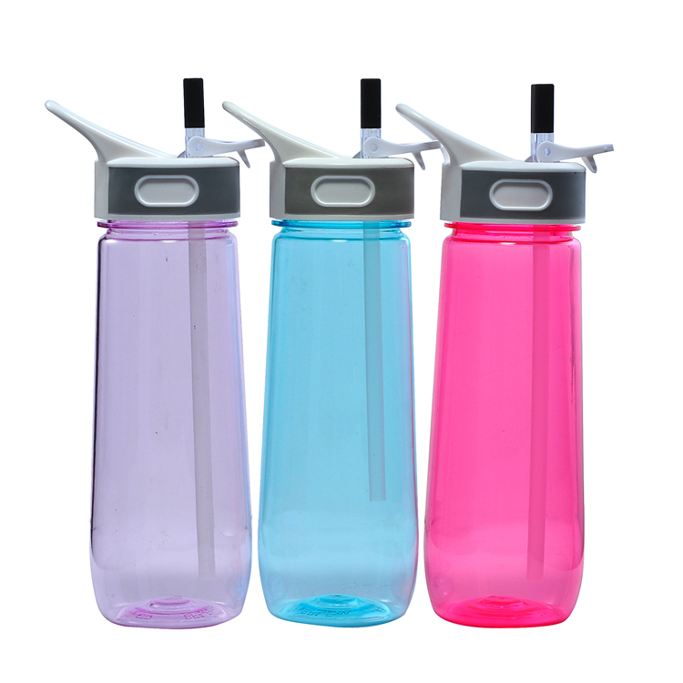 FREE SAMPLE Latest Bpa Free Plastic Joyshaker Water Drinking Bottle With Handle & Straw For Christmas Gift - 650ml 22 oz