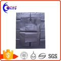 Customized black poly mailers express colored