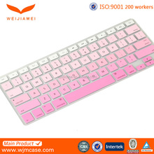 Various Colors Soft Silicone Custom Printing Desktop Keyboard Cover For Macbook Air/ Pro Manufacturer