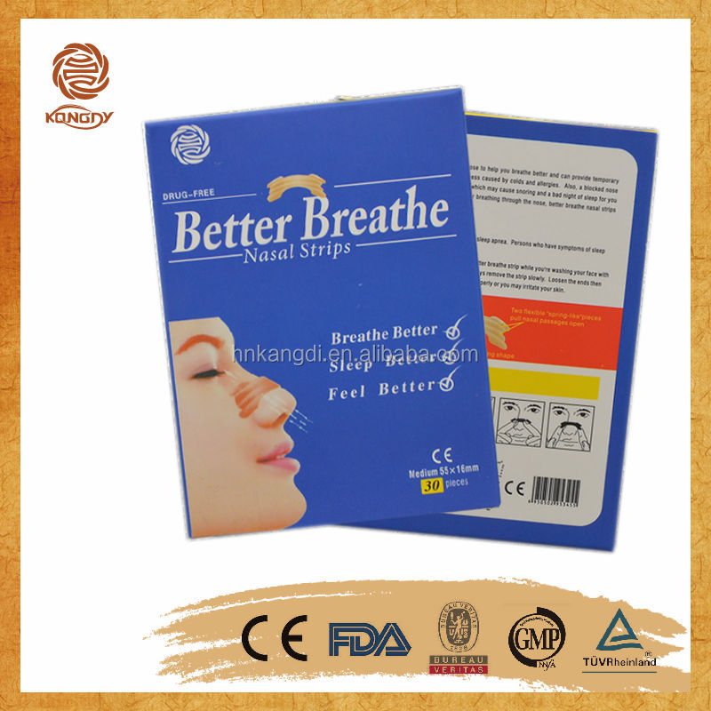 new product better breathe with CE certificate anti snore better breath nasal strip
