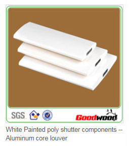 2 inches Wide White Painted Hollow PVC Shutter Parts