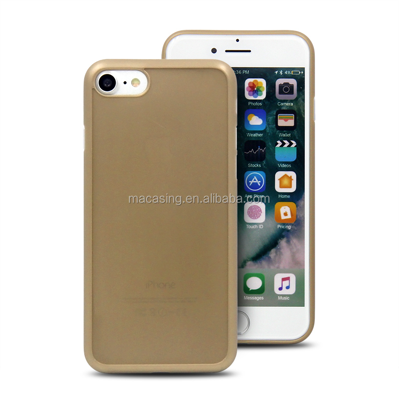 Cell phones 2016 0.6mm slim PP groove case for iPhone 7, for thin iPhone 7 covers, for iPhone7 Case with groove
