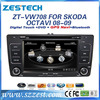 ZESTECH hot sale OEM dvd car audio navigation system for VW Skoda Octavia dvd car with navigation bluetooth TV tuner