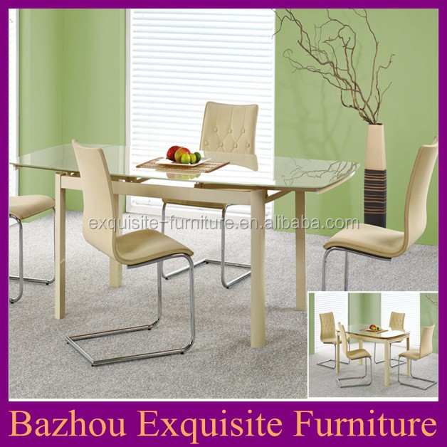 7Pc Glass Top Dining Room Table And Chair Set