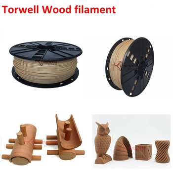 3D printing 1.75 & 3mm Wood plastic consumables for FDM 3D printer