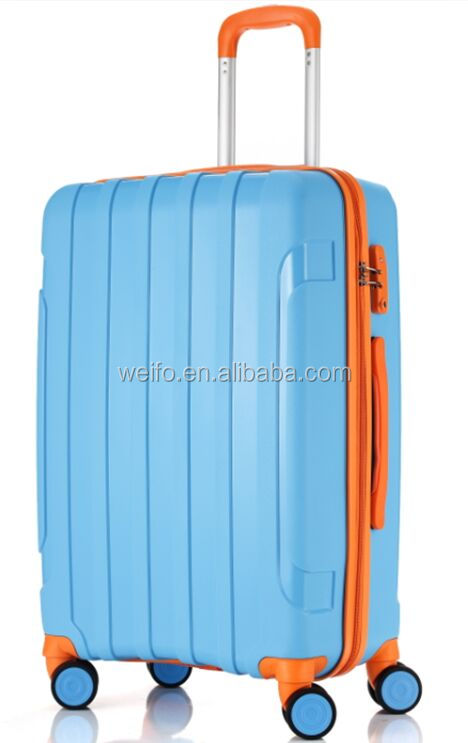 2015 New PP trolley travel luggage suitcase Spinner Wheels PP Luggage Trolley Case