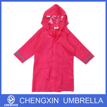 Long women's pink adult raincoat