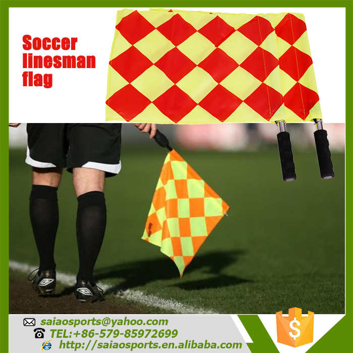 <strong>Football</strong>/soccer linesman flag, <strong>football</strong> referee flag, signal flag