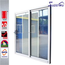 Superwu top quality hot sale korean tempered glass cheap price of aluminium sliding door