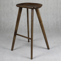 Triumph Vintage Dark Wood Bar Stool/ Kitchen Counter Furniture Solid Wood Stool high leg chair