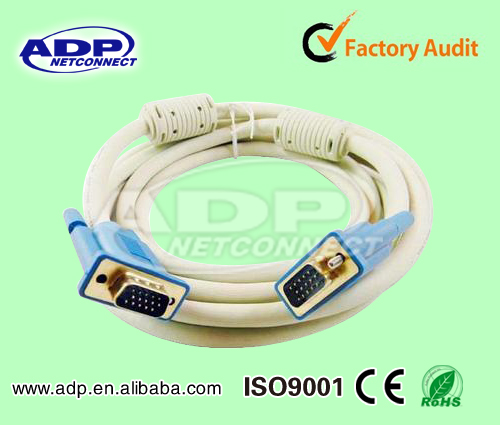 1080P Male to Male Cable Vga for DVD player and Digital TV with Best Price