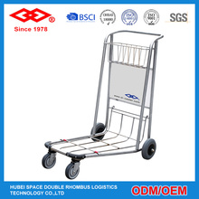 New Design 4 casters 180kg heavy duty stainless steel airport passenger trolley and cart