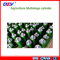 Agricultural multi-stage telescopic hydraulic cylinder tricycle