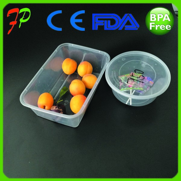 One time pp plastic take away food packaging container
