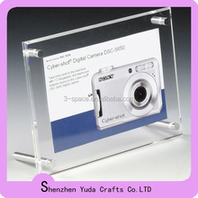 Photo frame Plexiglass Display Holder With Metal Screw Frame Stand