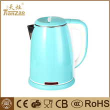 China customized green anti-scald stainless steel electric kettle