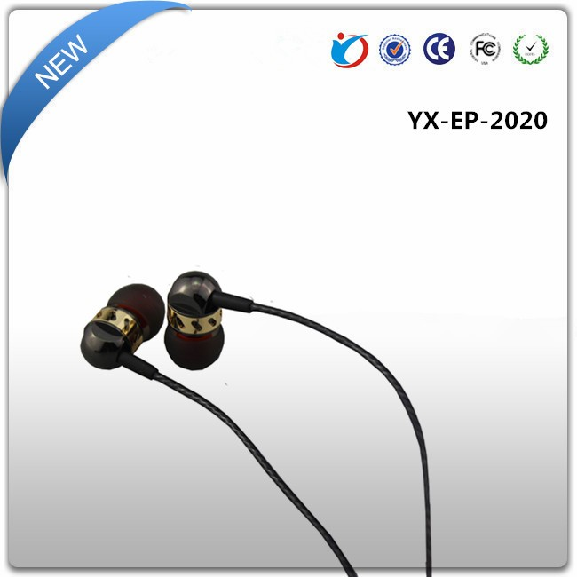 Custom logo stereo earphones MP3 MP4 earphone with mic