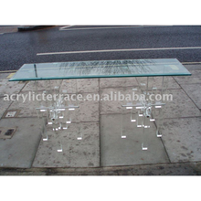 perspex clear acrylic lucite dining table