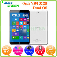 Onda android tablet 8.9 inch In-tel Z3735F quad cores Wins 10 and Android 4.4 Bluetooth 1280x800 2GB 32GB tablet pc
