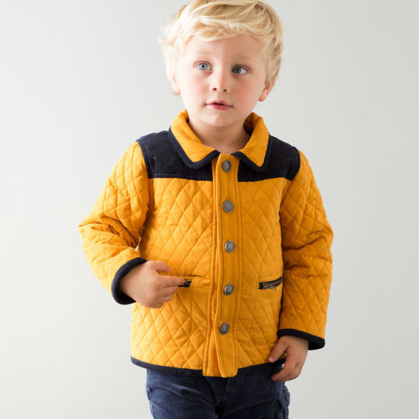 DB805 dave bella 2014 winter infant coat baby wadded jacket padded jacket outwear winter coat jacket boy winter coat