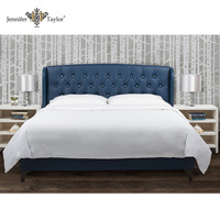 Luxury bedroom fancy furniture hand tufted diamond studded PU leather bed 52011-4-850-1
